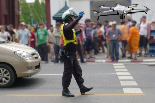 Thai Police Want to Use Drones to Monitor Traffic From Sky